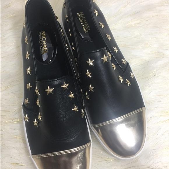 cab145977ac 🔥NEW Michael Kors Tia Cap Toe Slip-On Sneakers